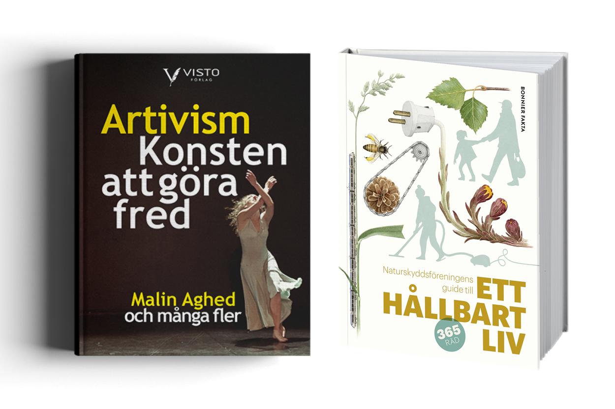 Ett hållbart liv & Artivist - Två nyutgivna böcker som går att välja tillsammans med en prenumeration på Camino
